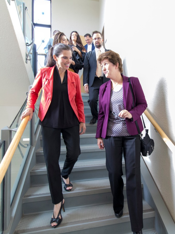 Dr. Ingrid Pickering and Minister Kirsty Duncan