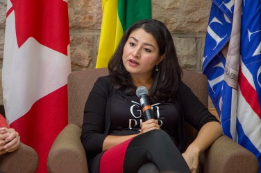 Minister Maryam Monsef answers questions from audience